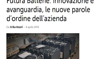 'Futura Batterie innovazione e avanguardia' - cit. TCE Magazine