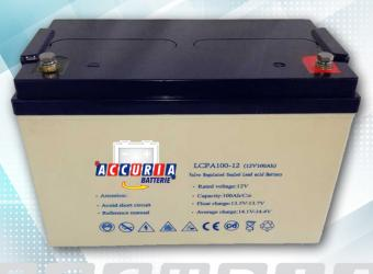 AGM deep cycle battery 12V - 100ah